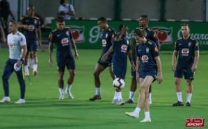 منتخب البرازيل يؤدي تدريباته استعدادًا للأرجنتين