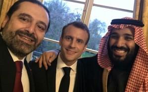 """""""الحريري"""" ينشر صورة جديدة تجمعه بولي العهد والرئيس الفرنسي في قصر الإليزيه"""