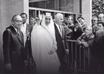 صورة تاريخية للملك فيصل خلال زيارته لمقر الأمم المتحدة بنيويورك