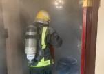 بالصور.. اندلاع حريق داخل منزل بمحافظة رجال آلمع