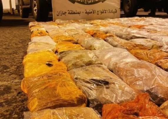 ضبط 224 كيلو من الحشيش بمحافظة الدائر مخبأة في مركبة بين الأعلاف