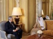 وزير الخارجية البلجيكي يستقبل الجبير