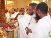 وسط حفاوة وترحيب.. ضيوف برنامج خادم الحرمين يصلون مكة المكرمة