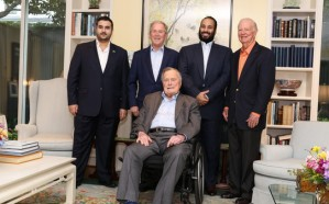 بوش الأب والابن يستقبلان ولي العهد