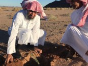 """نائب محافظ الحناكية يدشن حملة """"أرضنا الخضراء"""""""