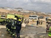 """مدني خميس مشيط ينفذ فرضية لتسرب """"الكلور"""" في محطة لمعالجة مياه الصرف"""