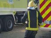 الدفاع المدني يباشر حريقًا شب في منزل مواطن بخميس مشيط