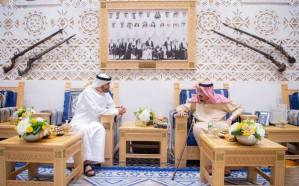 خادم الحرمين يستقبل ولي عهد أبو ظبي
