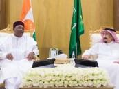 خادم الحرمين يلتقي رئيس النيجر ورئيس وزراء باكستان