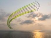 عروض القوات الجوية تزين سماء جدة في اليوم الوطني