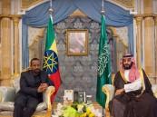 ولي العهد يلتقي رئيس وزراء إثيوبيا