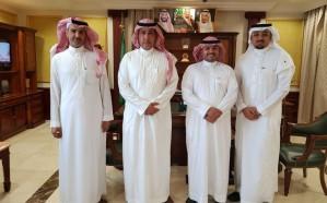 """محافظ الحناكية يستقبل مدير """"الاتصالات السعودية"""""""