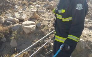 مدني خميس مشيط يباشر بلاغًا عن ثعبان