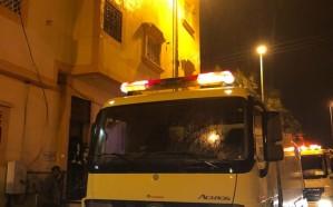 مدني خميس مشيط يباشر حريقًا في شقة سكنية