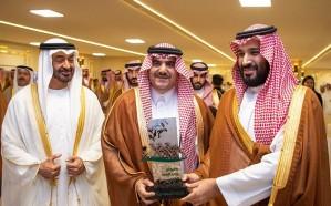 ولي العهد يسلم الجوائز للفائزين في مهرجان سموه للهجن