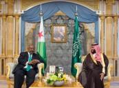ولي العهد يلتقي رئيس جيبوتي
