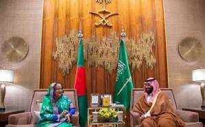 ولي العهد يلتقي رئيسة وزراء بنجلاديش