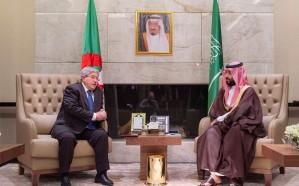 ولي العهد يعقد جلسة مباحثات مع الوزير الجزائري الأول