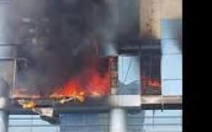 إخلاء 120 موظفاً إثر حريق شب بمبنى شركة المياه الوطنية في جدة