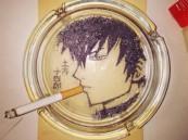 """بالصور.. فنان ياباني يحول """"رماد السجائر"""" إلى رسومات رائعة"""