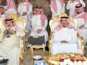 """بالصور..ولي العهد وملك البحرين وولي عهد أبوظبي في ختام مناورات """"سيف عبد الله"""""""