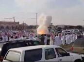 إصابة 3 أشخاص بحروق بعد انفجار بارود في حفل زواج بالطائف (فيديو)