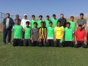 فوز الدار الحمراء على السحن ضمن بطولة كرة القدم بمكتب التعليم بمحافظة ميسان