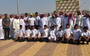 """أكثر من 150 طالب من مدارس النخيل يشاركون في ماراثون """"مسيرة وطن"""" بمحافظة الحناكية"""