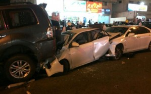 """إصابة 5 أشخاص إثر حادث تصادم جماعي في """"مكة"""""""