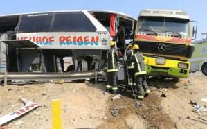وفاة قائد حافلة ومعاونه إثر حادث مروع بمكة