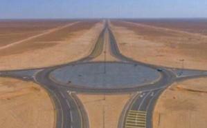 النقل يعلن عن قرب الانتهاء من تنفيذ طريق المنفذ الحدودي المؤدي لسلطنة عمان