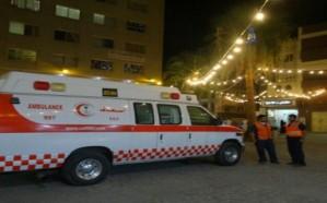 تصادم مركبتين يخلّف 12 إصابة بينهم 11 من عائلة واحدة