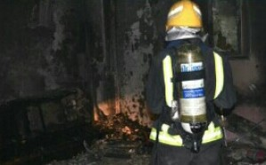 إصابة 15 شخص إثر حريق داخل قاعة أفراح في حي الحمراء بتبوك