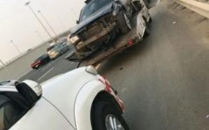 إصابة 7 أشخاص إثر تصادم مروع على طريق المطار بجدة