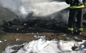 اندلاع حريق  في 9 خزانات بيتومين في نجران