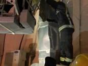 الدفاع المدني ينقذ شخصًا احتُجز لأربعة أيام في مدخنة بالرياض