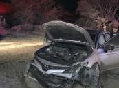 إصابة 11 شخص إثر حادث تصادم باتجاه طريق السيل