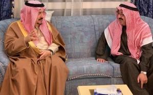 أمير الرياض يقدم واجب العزاء في الأميرة أضواء