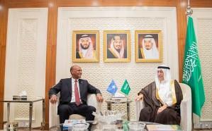 العساف يبحث مع نائب رئيس مجلس وزراء الصومال العلاقات الثنائية