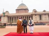 رئيس جمهورية الهند يستقبل ولي العهد في نيودلهي