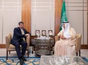 العساف يستقبل سفير كازاخستان