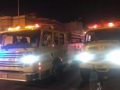 مدني خميس مشيط يخمد حريق منزل بحي المصيف