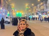 شاهد.. إلهام شاهين بالحجاب في العراق