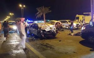 شاهد.. مصرع وإصابة 6 أشخاص إثر حادث مروع في بيش