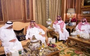 خادم الحرمين يستقبل محمد بن زايد
