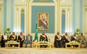ولي العهد يلتقي رئيس وأعضاء مجلس النواب اليمني