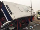 إصابة 14 شخصاً إثر انقلاب حافلة في الطائف