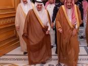 خادم الحرمين يغادر الرياض