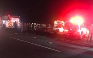 مصرع 5 أشخاص من عائلة واحدة في حادث مروع بجازان