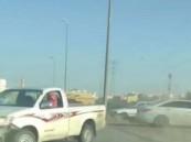 الإطاحة بقائدي مركبات مارسوا التفحيط قرب إحدى مدارس خميس مشيط